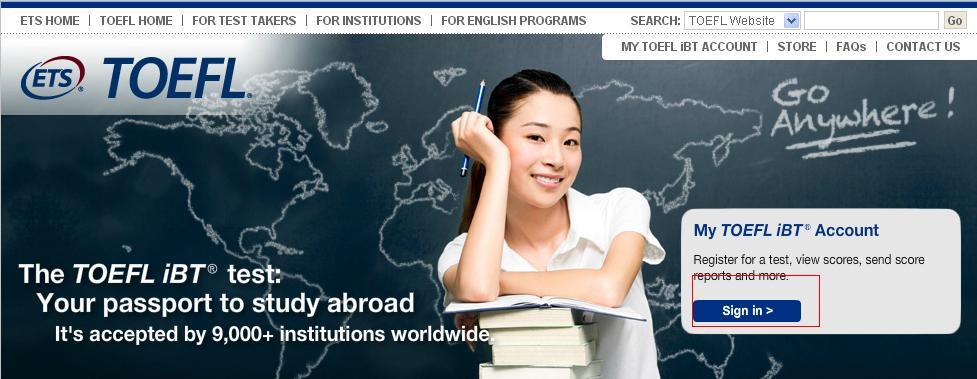 托福考试海外报名方式及报名流程(图解)